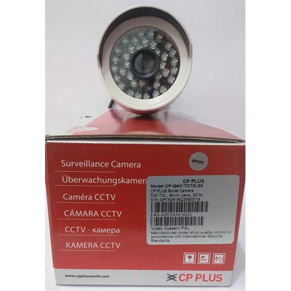 CP PLUS CP-QAC-TC72L3A 720TVL Bullet CCTV Camera