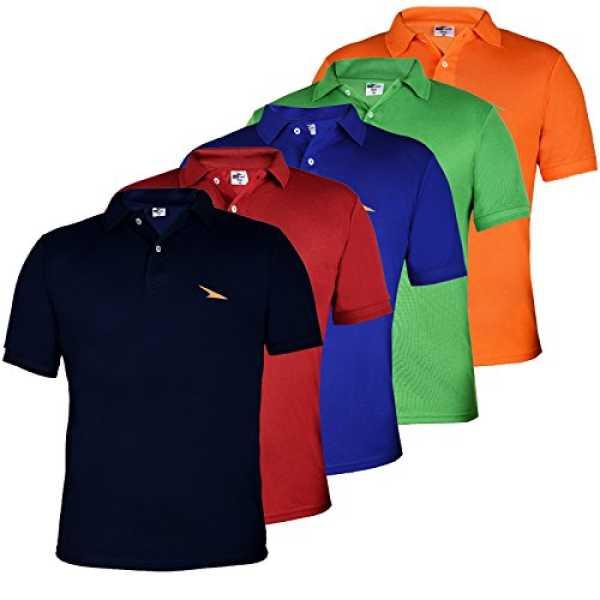 Men's Poly Cotton Polo T-Shirt (PL5M1304-07-08-09-10-L_Large_Multi-Coloured)