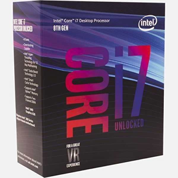 Intel (BX80684I78700K) Core i7 8th Generation Processor - Grey