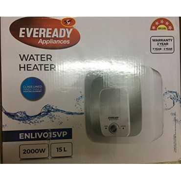 Eveready Enlivo15VP 15Ltr Storage Geyser - White
