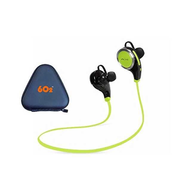 6o2 Q8 Bluetooth Neckband Headset - Blue   Red