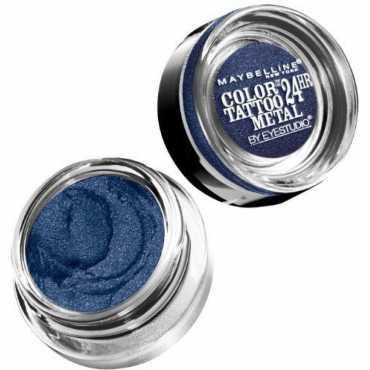 Maybelline Color Tattoo Metal 24 Hour Cream Gel Eye Shadow (Electric Blue) - Blue