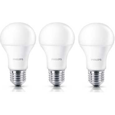 Philips Stellar Bright 12w Standard E27 1200L LED Bulb (White,Pack of 3) - White