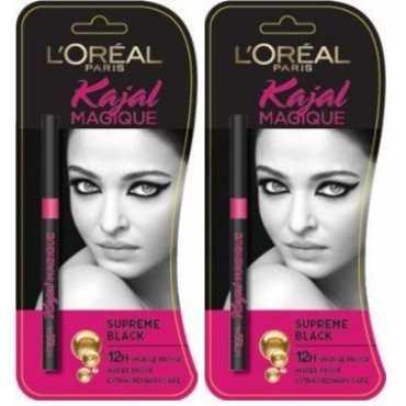 Loreal Paris  Kajal (Supreme Black) (Pack of 2) - Black