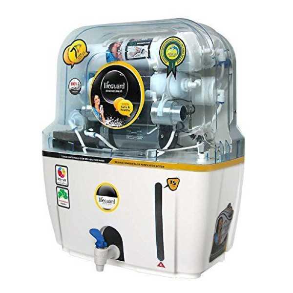 Lifeguard Puro Ro, UV, UF & TDS Controller Water Purifier (15 L)