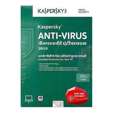 Kaspersky Antivirus - 2015 3 PC 1 Year