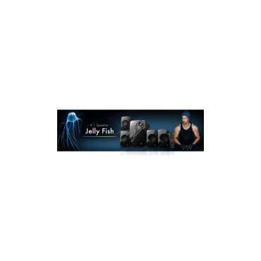 Zebronics Jelly Fish 4.1 Channel Multimedia Speaker - Black