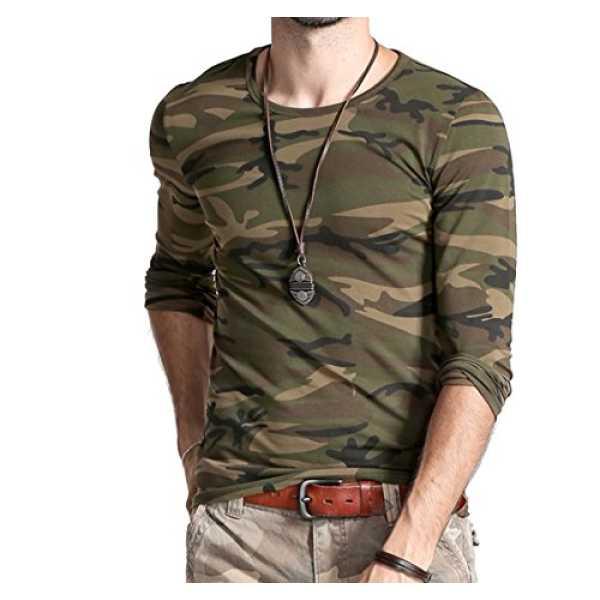 Lionroar Men's Full Sleeve T-Shirts (LR-9856_Medium (40)_Green)