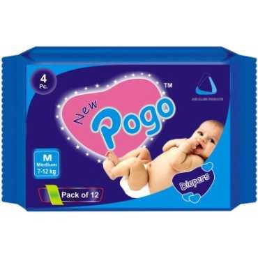New Pogo Diapers Medium 48 Pieces