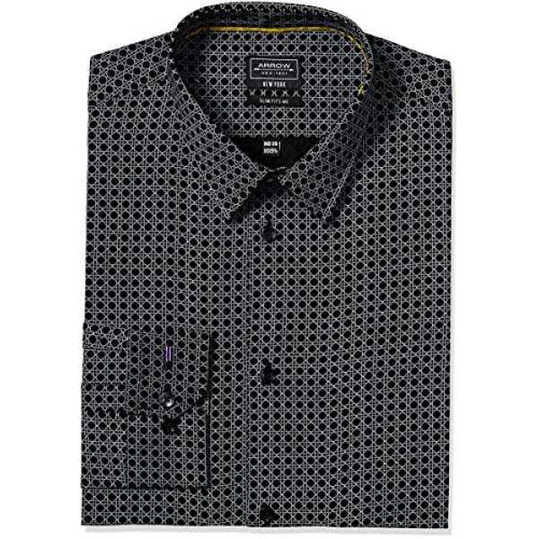 Newyork Men's Formal Shirt (8907378453464_A16ANNYSH019Z1_39_Black)