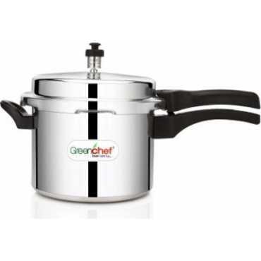 Greenchef Aluminium 7.5 L Pressure Cooker - Silver