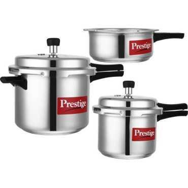 Prestige Popular 2 L, 3 L, 5 L Aluminium Pressure Cooker (Outer Lid)