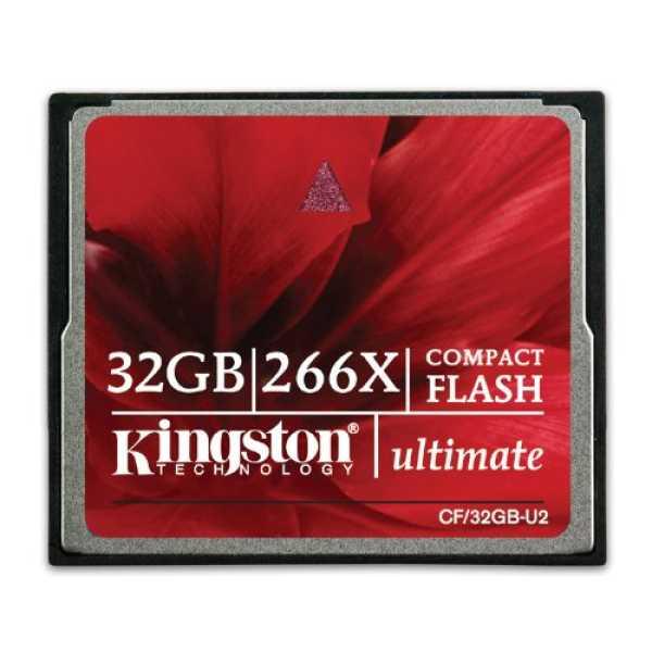 Kingston CF32GB-U2 CF 32GB Class 10 266x Memory Card