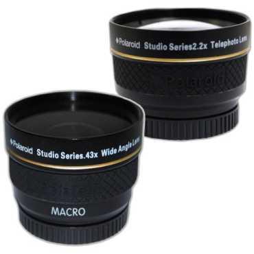 Polaroid Studio Series .43X HD Wide Angle Lens (With 2.2X HD Telephoto Lens)