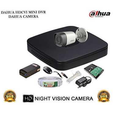 Dahua DH-HCVR4104C-S2 4CH Dvr, 1(DH-HAC-HFW1000RP-0360B) Bullet Camera (With 1TB HDD,Cable, BNC 2Pcs, DC 1Pcs, Power Supply)