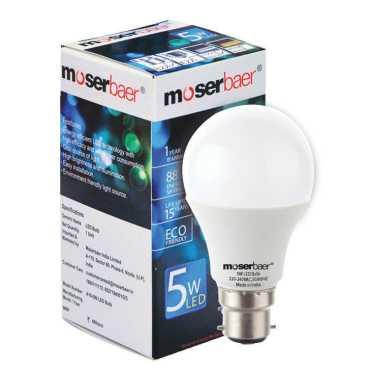 Moserbaer 5W White LED Bulb (Pack of 3)