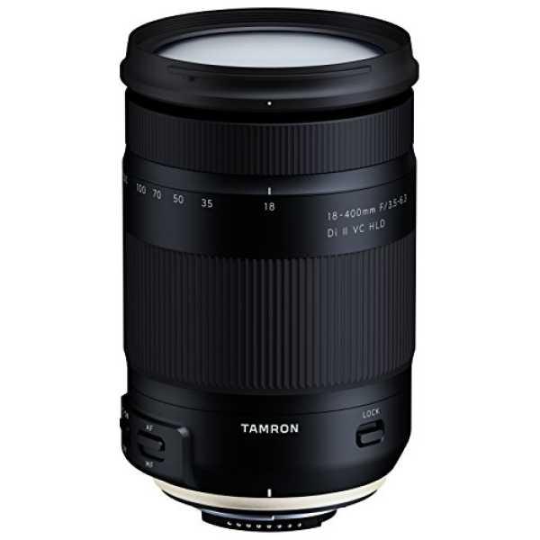 Tamron 18-400mm F/3.5-6.3 Di II VC HLD Lens (For Nikon DSLR) - Black