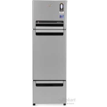 Whirlpool FP 283D Royal Protton 260 Litre Triple Door Refrigerator (Alpha Steel) - Steel