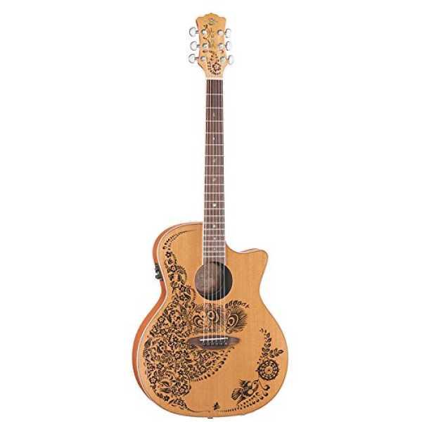 Luna Henna Series Oasis Cedar Acoustic-Electric Guitar
