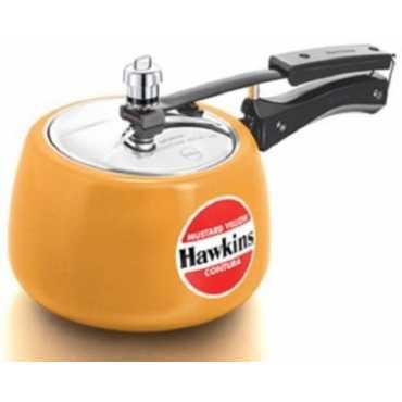 Hawkins hakins ceramic coated contura Aluminium 3 L Pressure Cooker(Inner Lid)