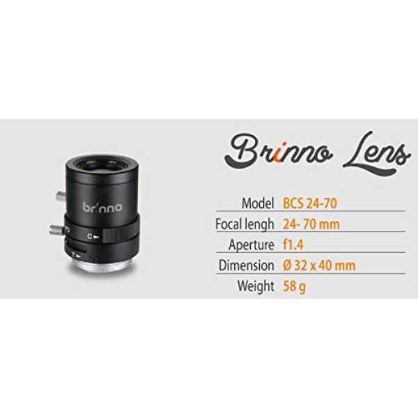 Brinno BCS24-70 CS Mount Lens (For TLC 200 Pro) - Black