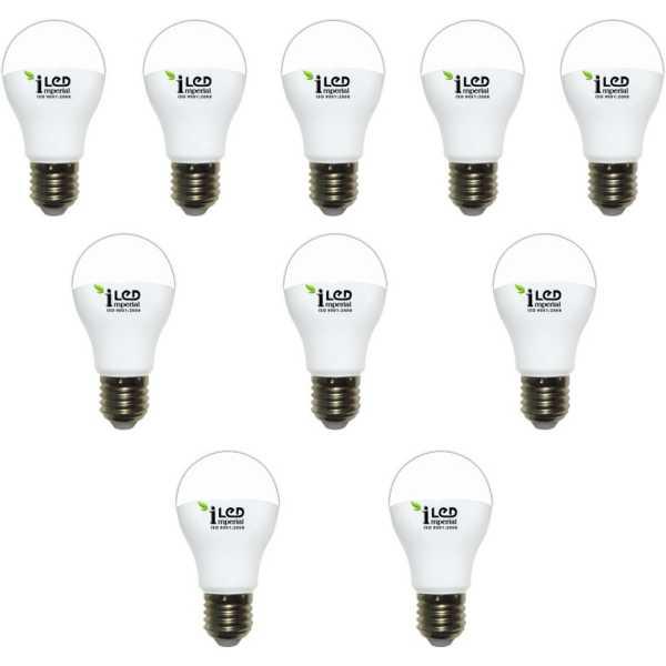 Imperial 12W E27 Premium LED Bulb (White, Pack of 10) - White