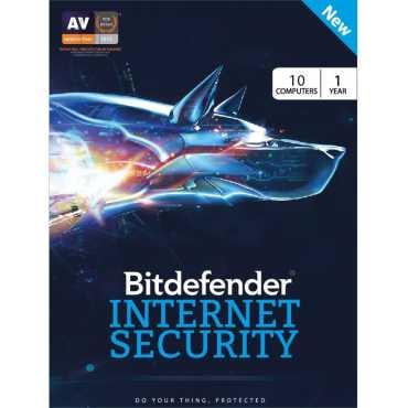 Bitdefender Internet Security 2017 10 PC 1 Year Antivirus