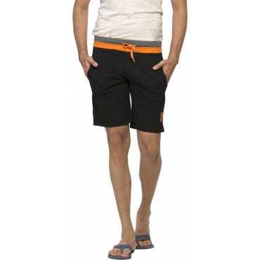 Solid Men's Black Basic Shorts