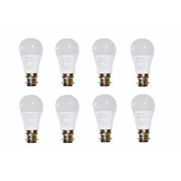 Opple 5W Round B22 350L LED Bulb (White,Pack of 8) - White