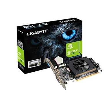 Gigabyte Nvidia GT 710 (GV-N710D3-2GL) 2GB DDR3 Graphic Card - Black