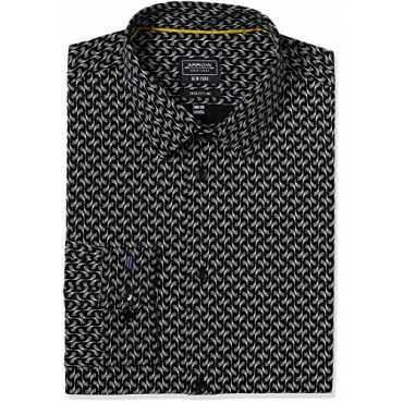 Newyork Men's Formal Shirt (8907378453006_ASSY1025_44_Black)