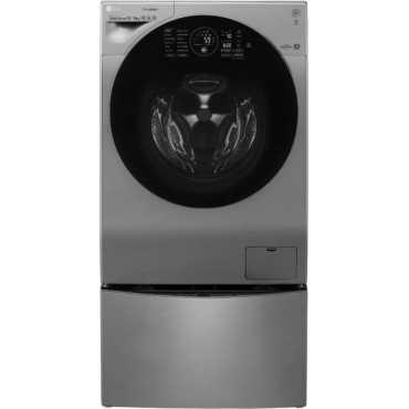 LG 12 Kg Fully Automatic Twin Load Washing Machine (F8K5XNK4) - Silver