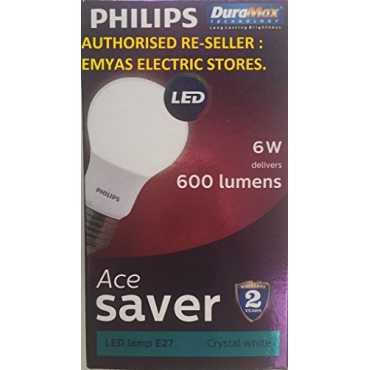Philips Ace Saver 6W E27 600L LED Bulb White