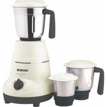 Borosil Home Star 500W Mixer Grinder (3 Jars) - White