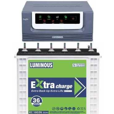Luminous EcoVolt 1050 Inverter (with EC 18036 150Ah Tubular Battery) - White