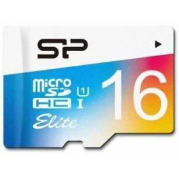 Silicon Power SP016GBSTHBU1V20BT 16GB Class 10 MicroSDHC Memory Card
