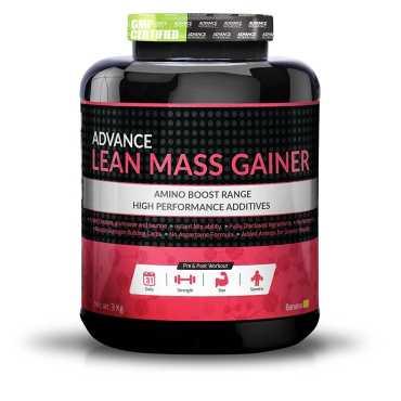 Advance Nutratech Lean Mass Gainer Supplement (3 Kg, Banana)