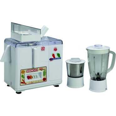 Signoracare SJG-3100 450W Juicer Mixer Grinder - White