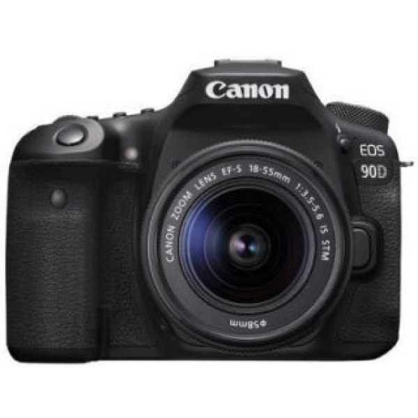 Canon EOS 90D DSLR Camera (EF-S 18-55mm f/3.5-f/5.6 IS STM Kit Lens)
