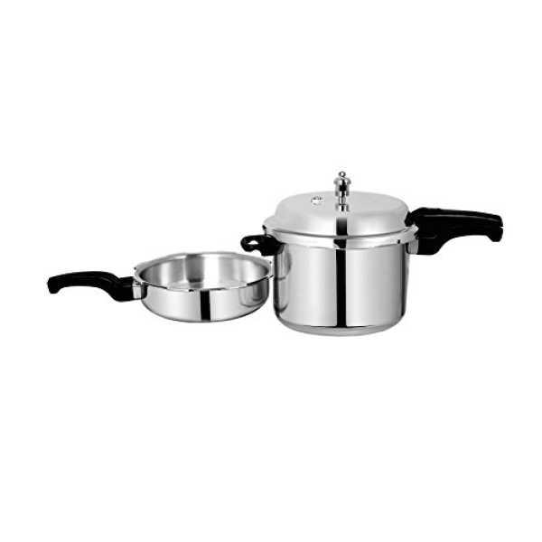 Sumeet Combo of Aluminium 5 L Pressure Cooker And 2.5 L Pan