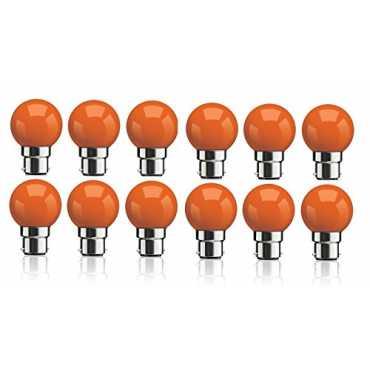 Syska 0 5W B22 LED Bulb Orange Pack of 12