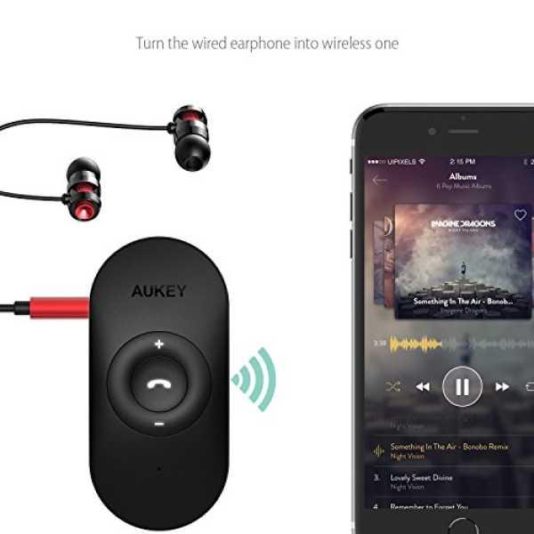 Aukey BR-C9 Bluetooth 4.1 Audio Receiver Car Kit - Black