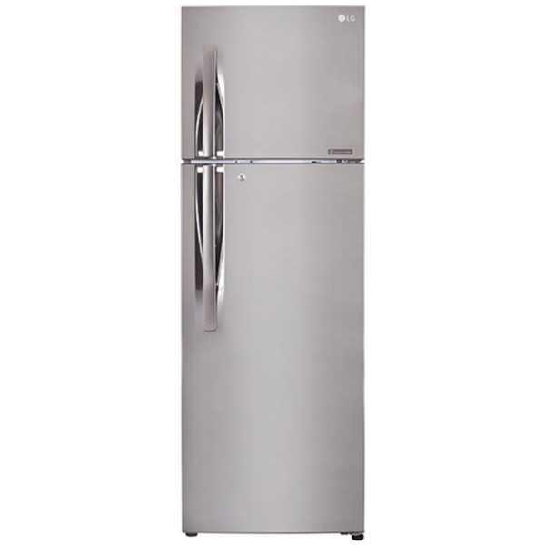 LG GL-Q282RPZY 255L 3S Double-Door Refrigerator (Shiny Steel)