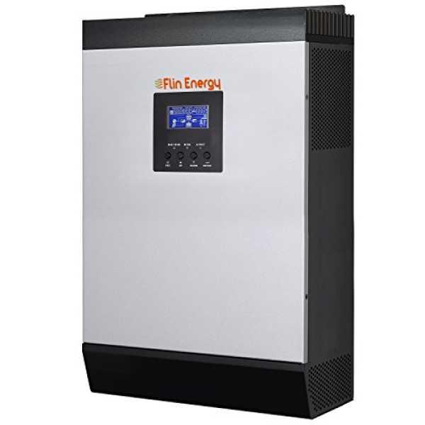 Flin Energy FlinSlim 3kVA/2400W, 24V MPPT Solar Hybrid Inverter - Grey And Black (outer Body)