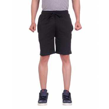 DFH Men's Shorts (DFH-MN-BL-05--XXL, Black, XX-Large)