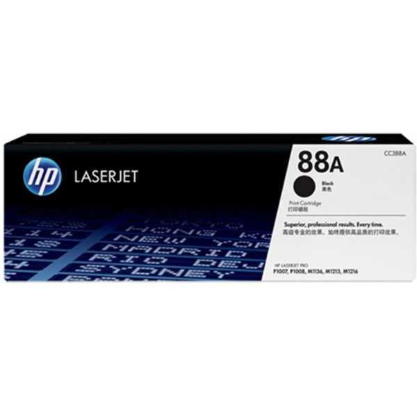 HP 88A Black Toner Cartridge - Black