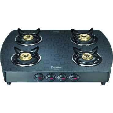 Prestige Premia 40271 Glass Manual Gas Cooktop 4 Burner