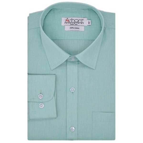 Men's Plain 100% Cotton Full Sleeves Regular Fit Formal Shirt (AR73390538)