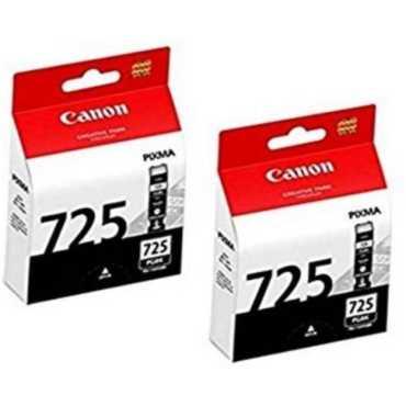 Canon Pixma 725 Black Ink Cartridge (Twin Pack) - Black