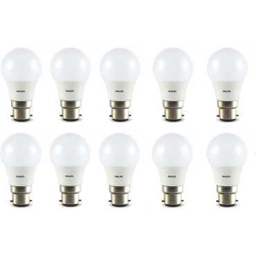 Philips Ace Saver 2.7W B22  230L LED Bulb  (White, Pack of 10) - White
